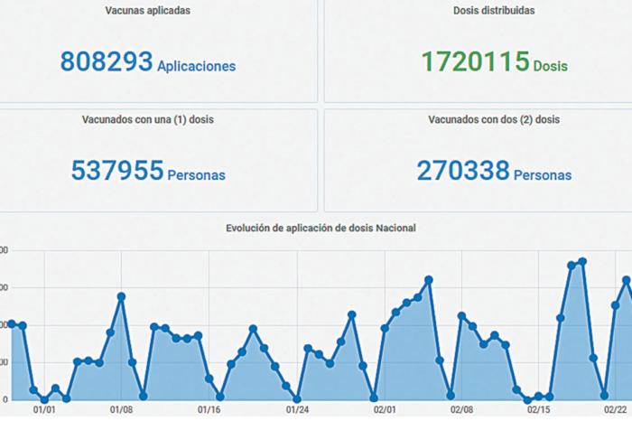Gobierno presento el Monitor Publico de Vacunacion: mas de 808 mil personas fueron inmunizadas en Argentina
