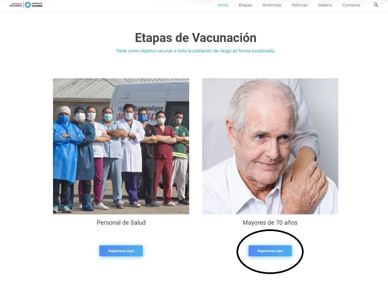 Mayores de 70: el paso a paso via internet para recibir la vacuna contra el coronavirus