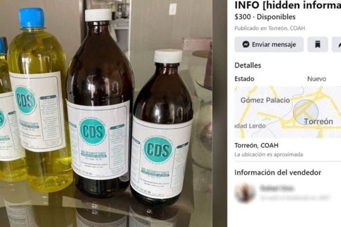 Detienen a medica por vender en Facebook dioxido de cloro para curar el Covid-19