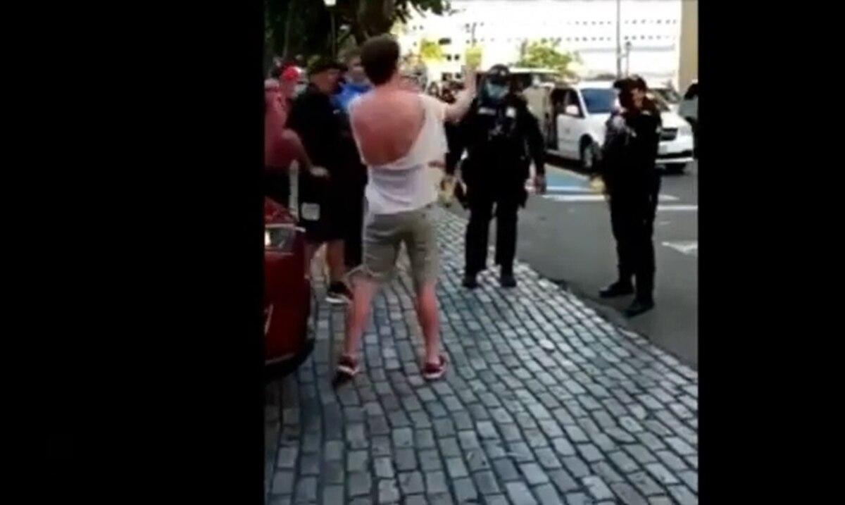 """La Policia Municipal de San Juan arresta usando un """"taser"""" a un turista"""