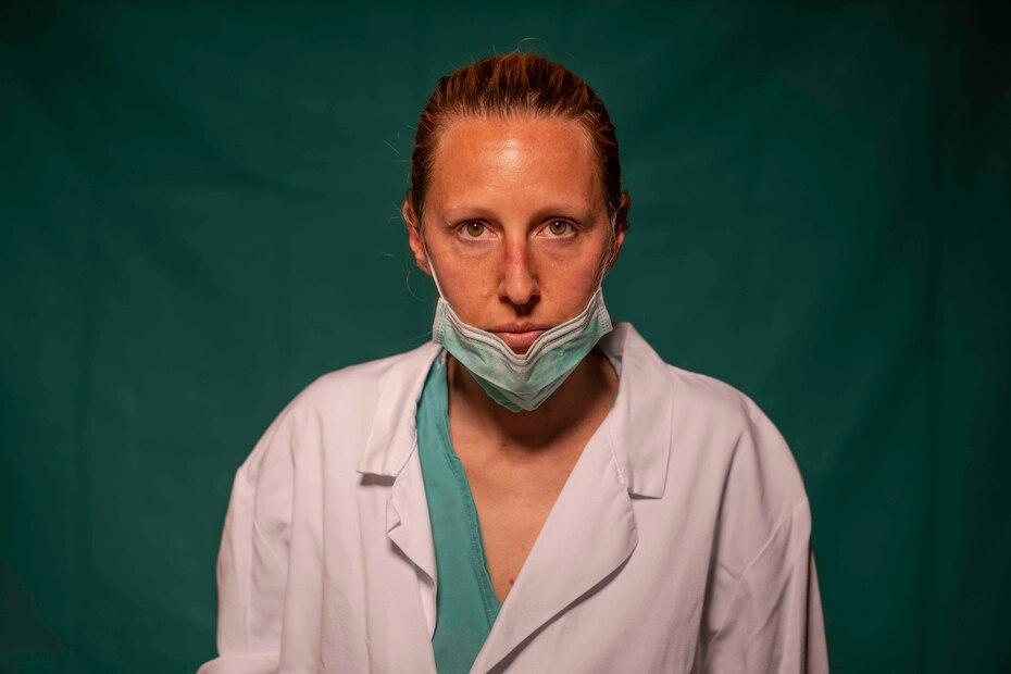 Marta Catoni, de 33 años, inmunologa del COVID 3 Spoke Casalpalocco Clinic en Roma.