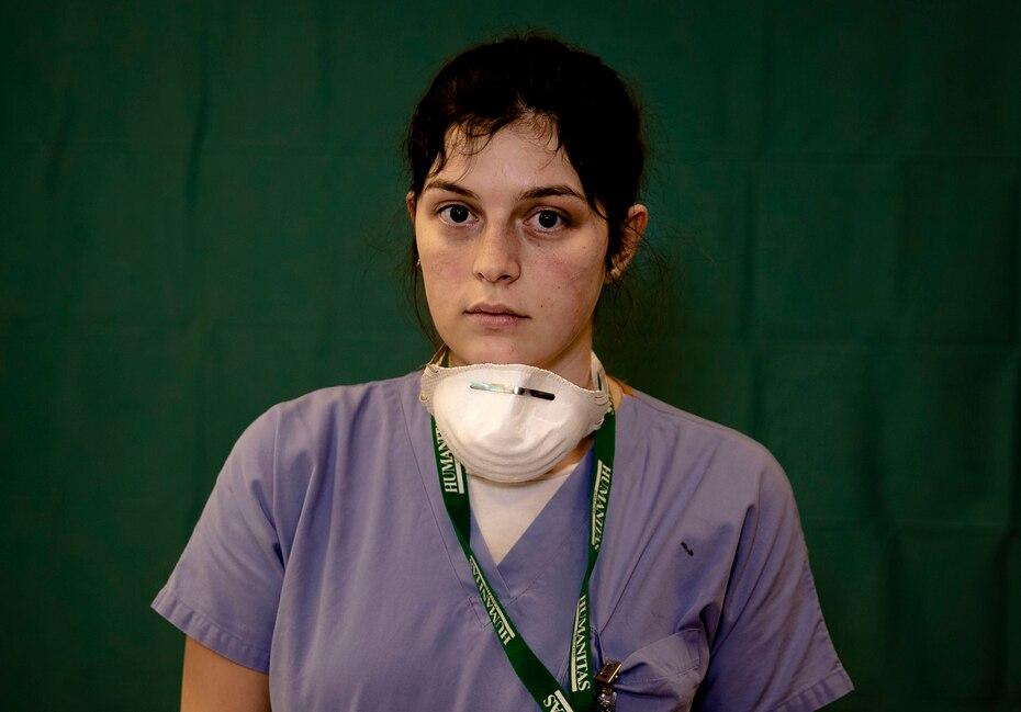 Lucia Perolari, de 24 años, enfermera en el hospital Humanitas Gavazzeni de Bergamo.