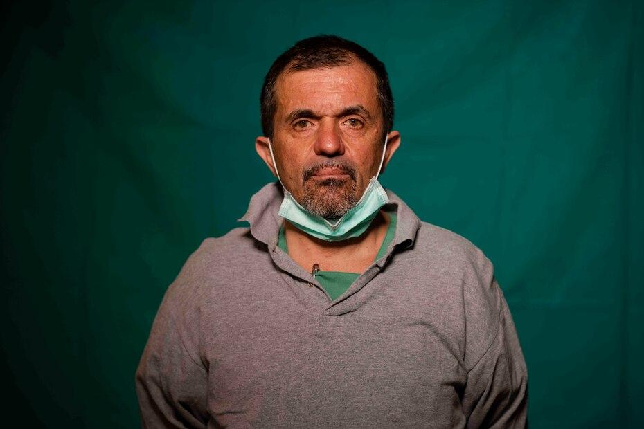 Sebastiano Petracca, de 48 años, doctor principal de la unidad de emergencia del COVID 3 Spoke Casalpalocco Clinic en Roma.