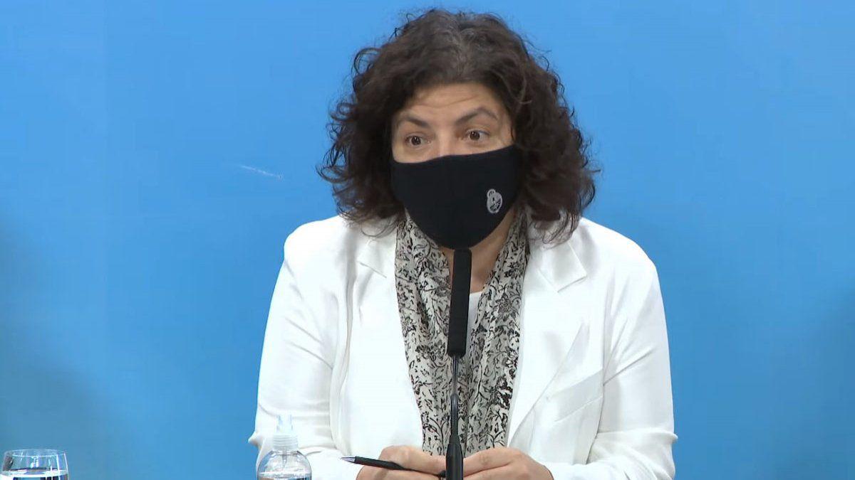 Vizzotti advirtio que si aumentan los casos de coronavirus habra restricciones a la circulacion