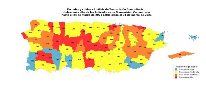 Sistema de Vigilancia de Salud identifica 14 pueblos con transmision comunitaria alta de COVID-19