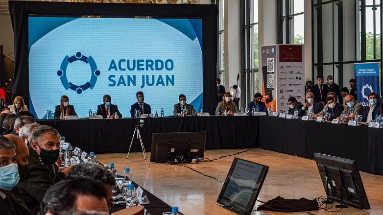 Salud expuso la situacion epidemiologica ante los representantes del Acuerdo San Juan