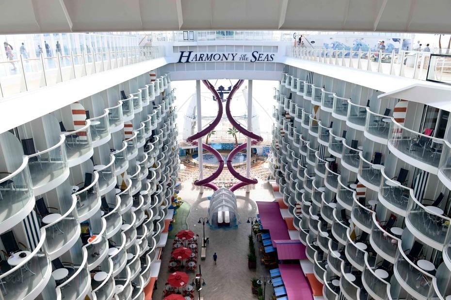 Harmony of the Seas | De Royal Caribbean. Tiene capacidad para 6,687 pasajeros y mide 1,188 pies de longitud. (GFR Media)