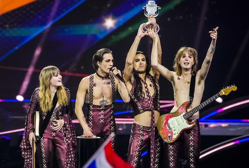 La banda italiana Maneskin gano la competencia Eurovision con la cancion