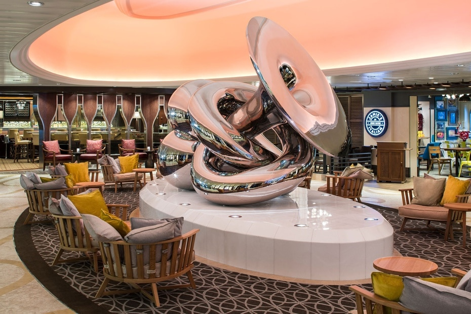 Anthem of the Seas | De Royal Caribbean. Soporta hasta 4,905 pasajeros y tiene una longitud de 1,141 pies. Fue lanzado en el 2015. (GFR Media)
