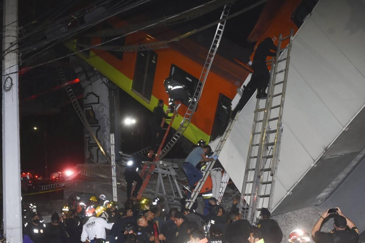 Metro cae en la Ciudad de Mexico y deja 23 muertos y 70 heridos