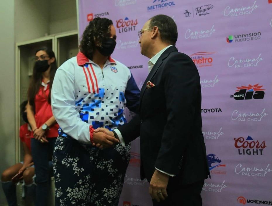 El salsero tambien compartio con la judoca Melissa Mojica, quien tambien poncho su boleto a los Juegos de Tokio 2021.