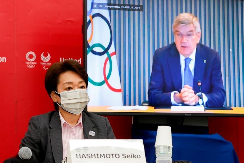 La presidenta del Comite Organizador de los Juegos de Tokio 2020, Seiko Hashimoto, ofrece detalles sobre el asunto del aforo en los recintos.