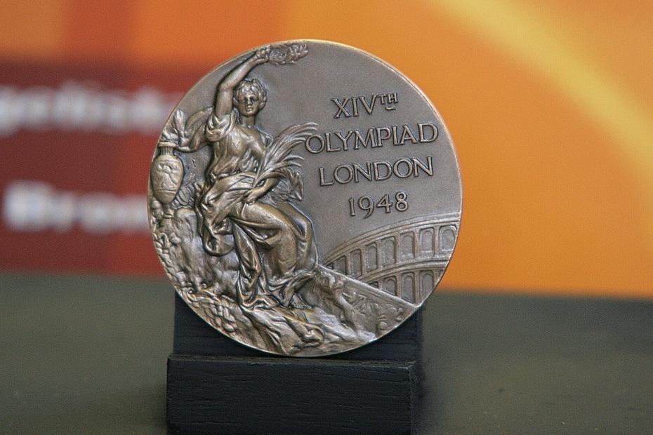 Medalla de bronce obtenida por Venegas en el boxeo de las Olimpiadas de Londres en 1948.