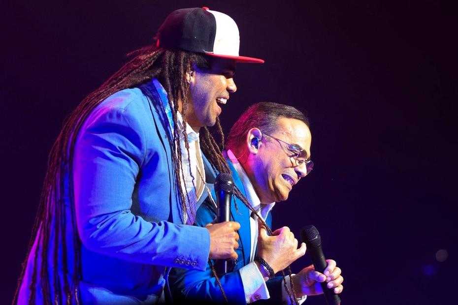 Pirulo acompaño Gilberto Santa Rosa durante su participacion en el concierto