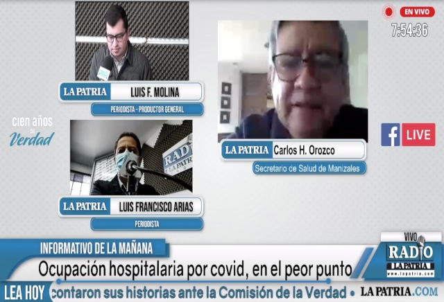 El secretario de Salud de Manizales, Carlos Humberto Orozco, confirma que hay siete linajes distintos de la covid-19 en la ciudad