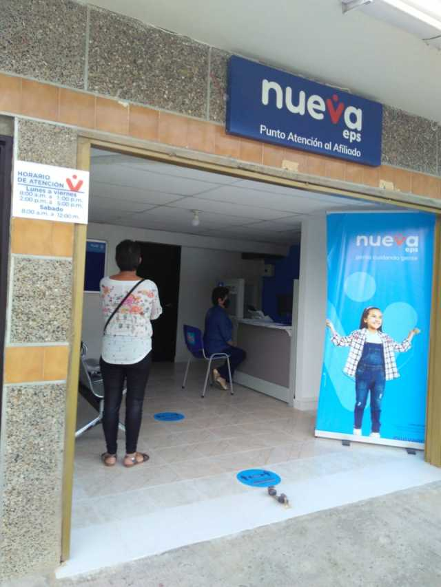 Usuarios de Nueva EPS ya tienen oficina en Aguadas tras fallo de tutela