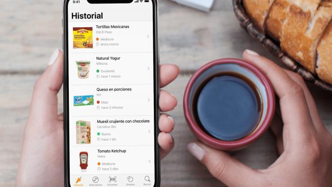 La app Yuka califica los productos segun su valor nutricional, entre otras cosas.